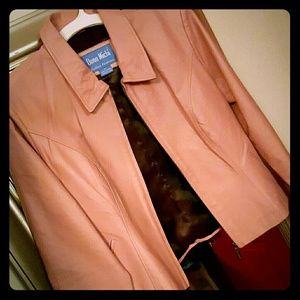 Jackets & Blazers - Pink leather jacket